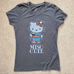Graphic Tee - Hello Kitty Miso Cute Tshirt
